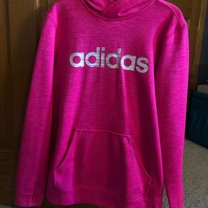 Adidas hot pink sweatshirt